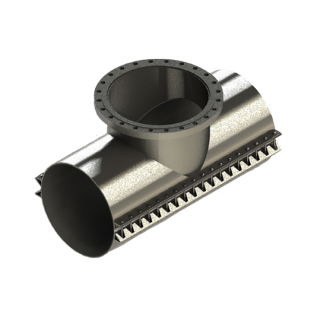 Stainless steel tapping sleeve for under pressure drilling services